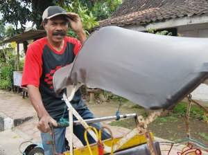 Otto Mayor mengenang masa-masa waktu menjadi tukang becak di Kota Salatiga